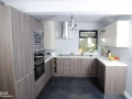 Two colours Kitchen small space elegant look