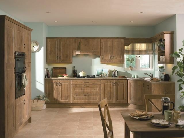 lancelot oak Traditional kitchen