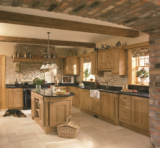 yale solid character oak kitchen style